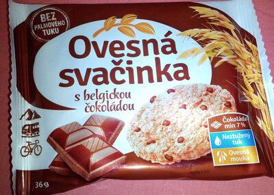 Ovesná svačinka s belgickou čokoládou - Produit - cs