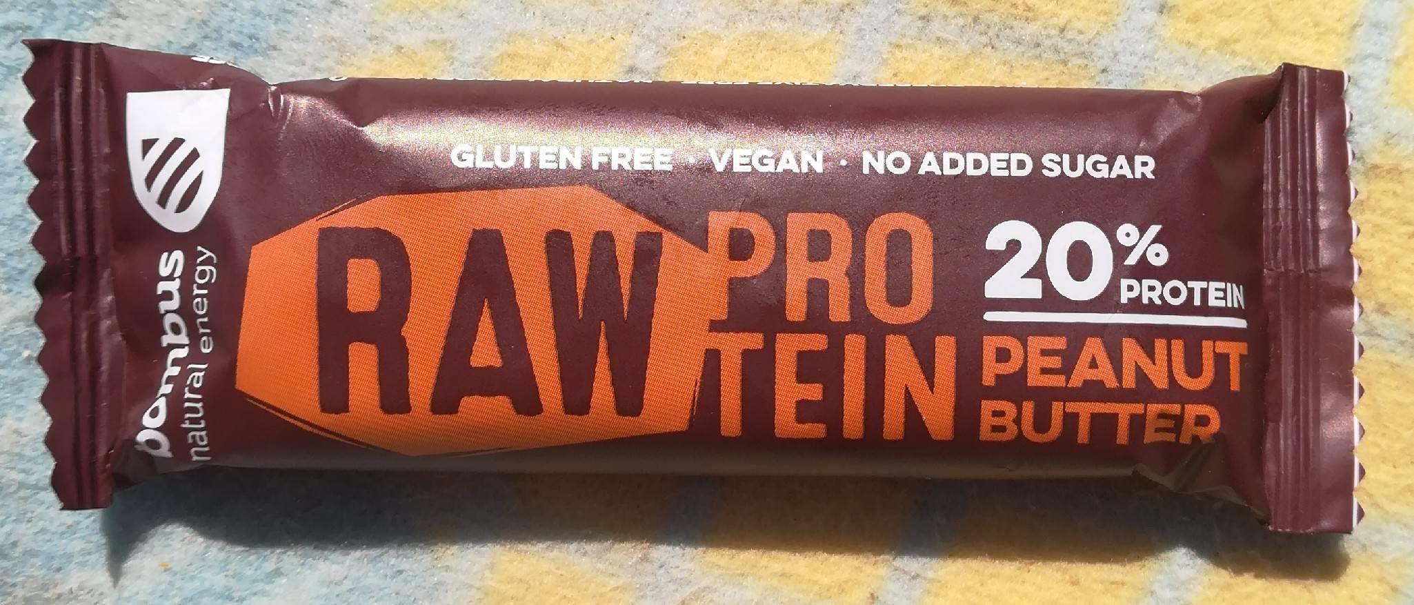 Raw protein barrita de manteca de cacahuete sin - Produit - fr