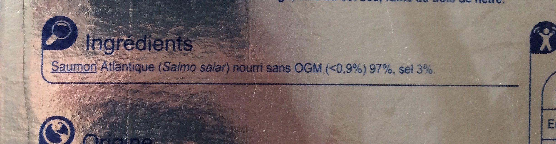 Saumon fumé - Ingrédients