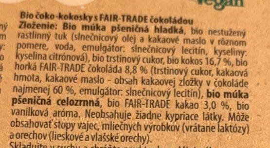 Čoko-kokosky - Ingredienti - cs