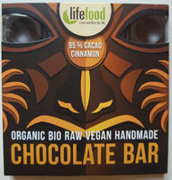 Raw čokolada z nepraženého kakaa bio 95% kakao se skořicí - Produit - cs