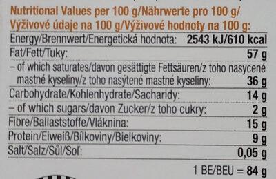 Raw čokolada z nepraženého kakaa bio 95% kakao se skořicí - Informations nutritionnelles - cs