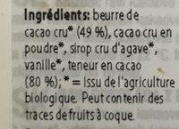 Organic bio raw vegan handmade chocolate bar - Ingredienti - fr