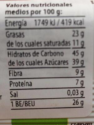 Coconut Bar - Informazioni nutrizionali - fr