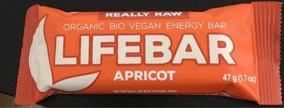 Lifebar Abricot Cru Vegan - Produit - fr