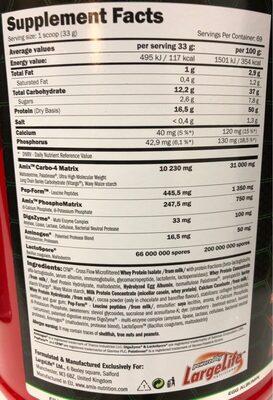 SMOOTH-8 - Nutrition facts - es