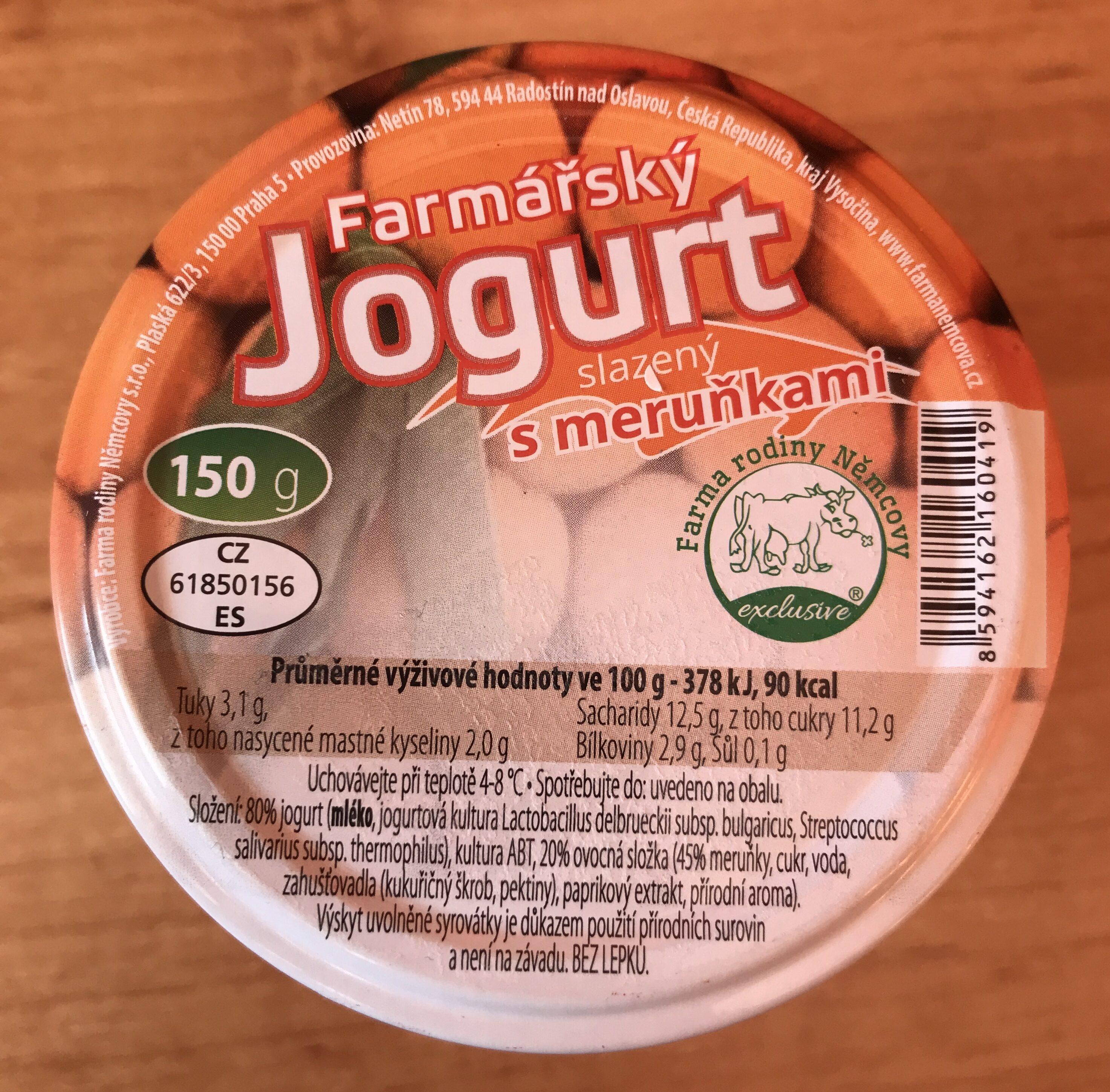 Farmářský jogurt slazený s meruňkami - Product - cs