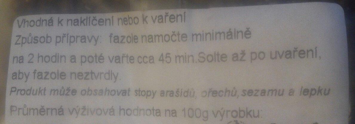 Fazole Mnugo - Ingredients - cs