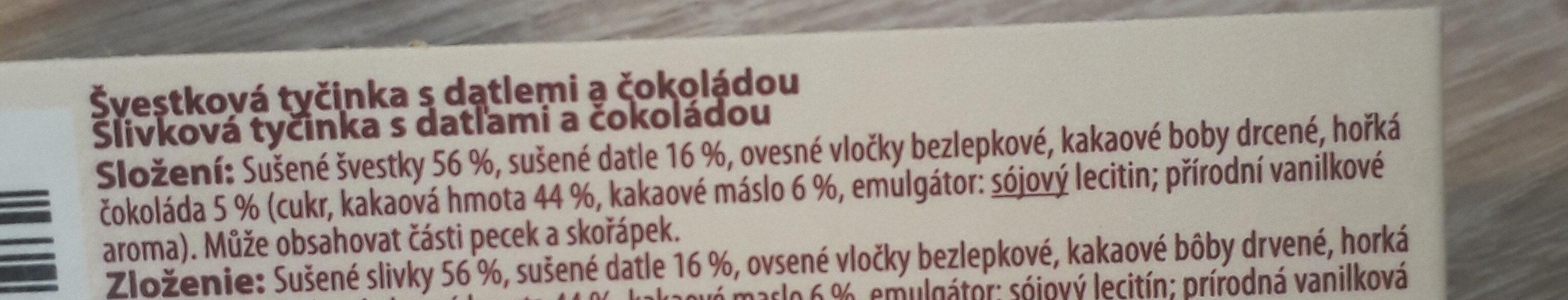 mixitka švestka a čokoláda - Ingrédients - cs
