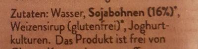 Frische Soja Joghurt Natur - Ingredients - de
