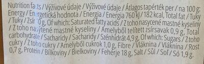 Sójové párky classic - Informations nutritionnelles - cs