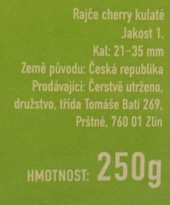 Rajčata Nelinka z farmy Velké Němčice - Ingrédients