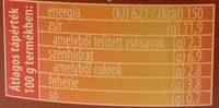 Franicia melegszendvicskrém - Informations nutritionnelles - hu
