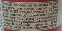 Moutarde - Ingrediënten