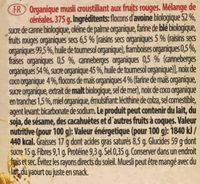Emco Organic Muesli With Red Fruits - Ingredientes - fr