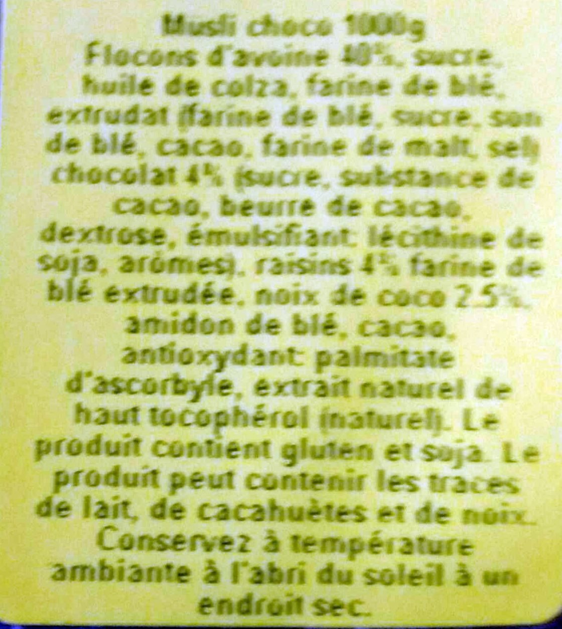 Müsli Crunchy - Chocolat - Ingredienti - fr