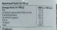 Müsli Crunchy - Chocolat - Valori nutrizionali - fr