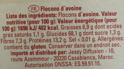 Flocons d'avoine petites feuilles - Ingrédients - fr