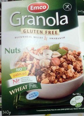 Granola - sans gluten sarrasin, millet, amarante - Aux Noix - Produit - fr