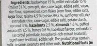 Granola - sans gluten sarrasin, millet, amarante - Aux Noix - Ingredients