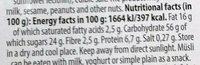 Granola - sans gluten sarrasin, millet, amarante - Aux Noix - Informations nutritionnelles - fr