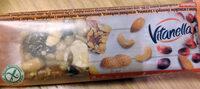 Baton z orzeszków ziemnych z  żurawiną, orzechami nerkowca, słonecznikiem, rodzynkami i migdałami. - Produkt - pl