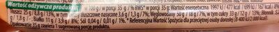 Baton z orzeszków ziemnych z  żurawiną, orzechami nerkowca, słonecznikiem, rodzynkami i migdałami. - Wartości odżywcze - pl