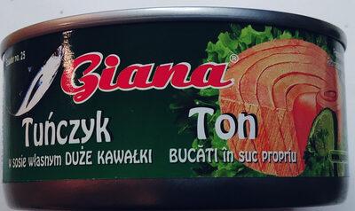 Tuńczyk w sosie własnym duże kawałki - Produkt - pl