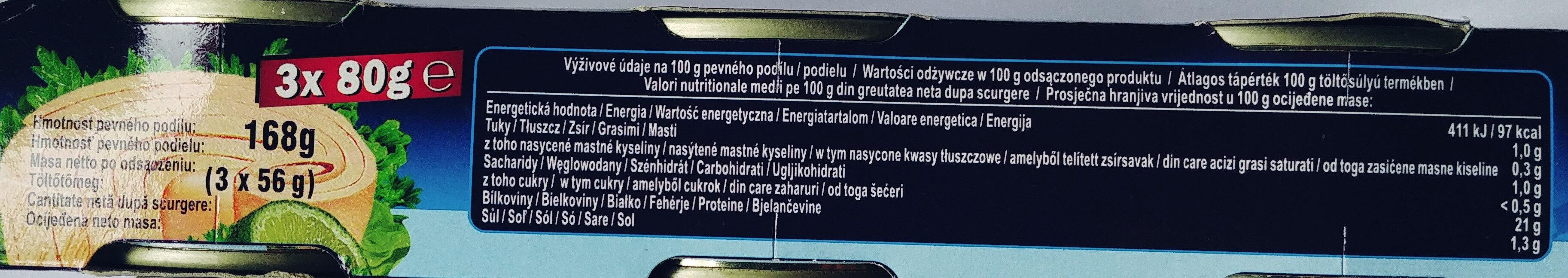 Tuńczyk w sosie własnym duże kawałki - Wartości odżywcze - pl