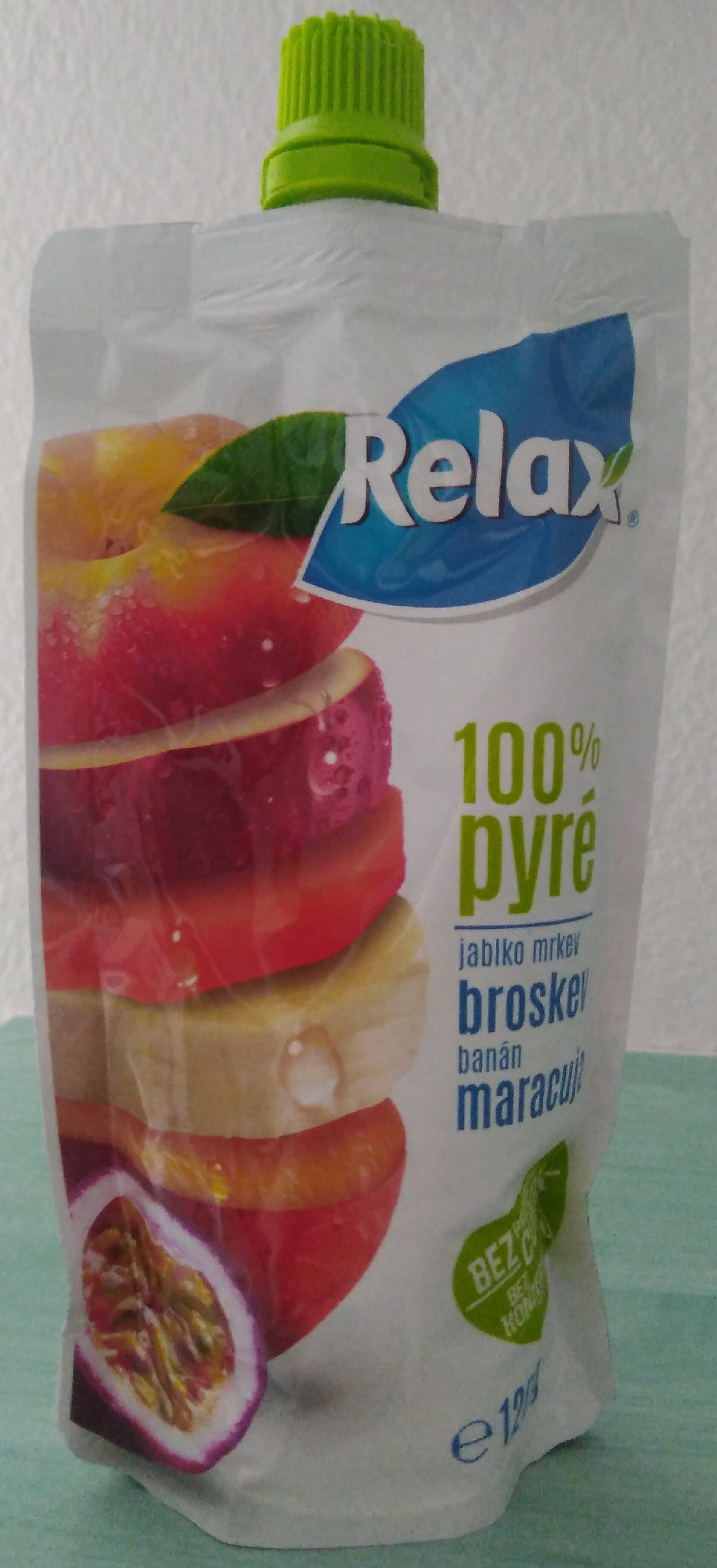 100% pyré - jablko, mrkev, broskev, banán, maracuja - Product - cs