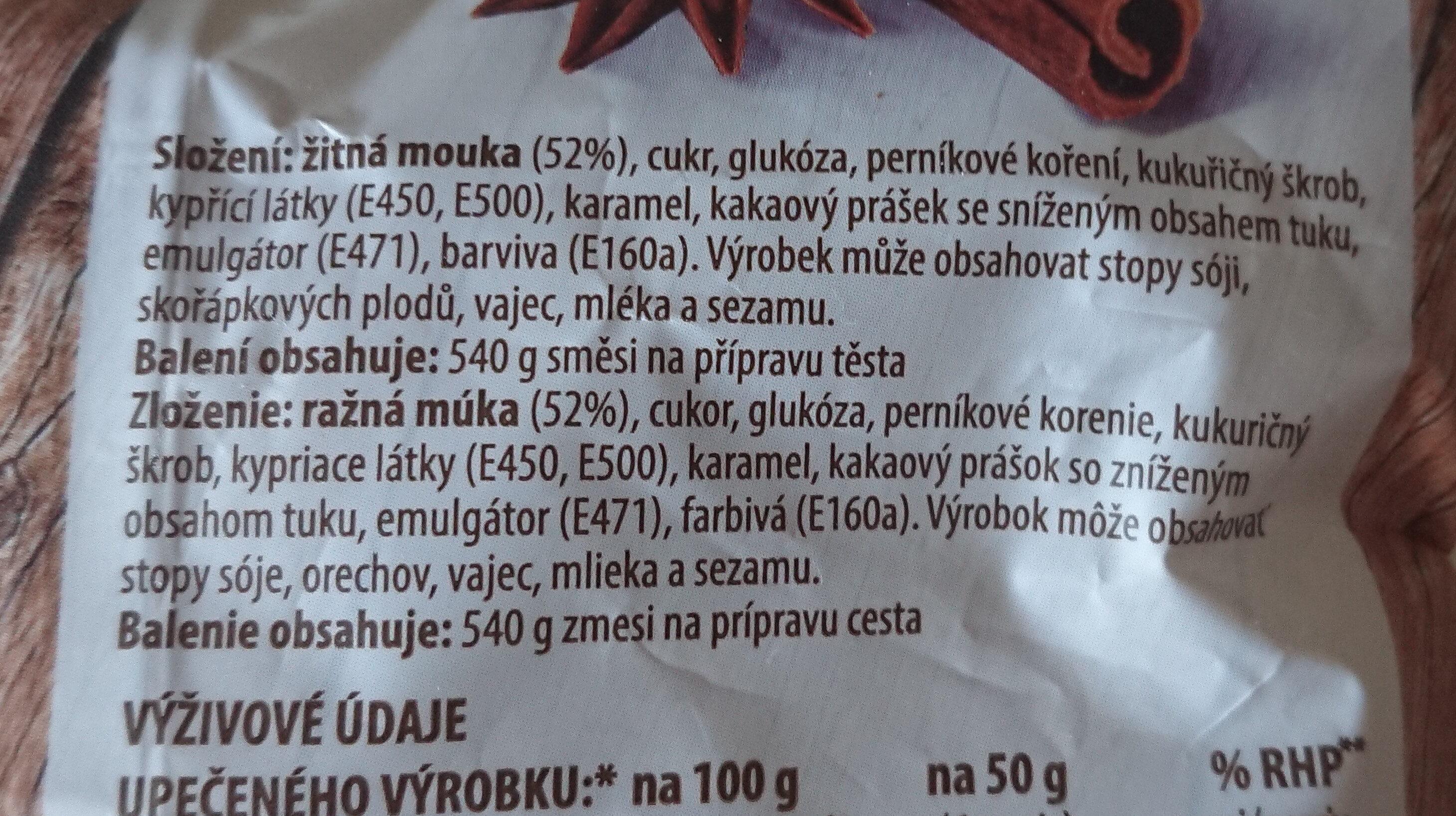 Staročeský žitný perník - Ingredients - cs
