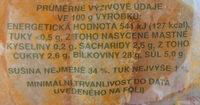 Olomoucké tvarůžky věnečky - Voedingswaarden