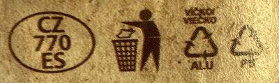 Bio zakysaná smetana - Instrucciones de reciclaje y/o información de embalaje - cs