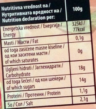Ketchup pizza - Nutrition facts - sr