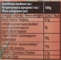 Ketchup blagi - Nutrition facts - sr