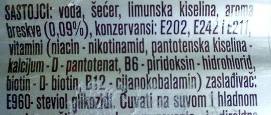 Aqua viva Hydroactive breskva - Ingredients - sr