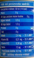 Aqua viva Hydroactive breskva - Nutrition facts - sr