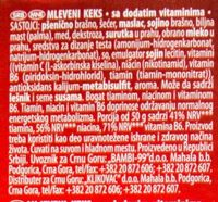 Plazma Mlevena - Ingredients