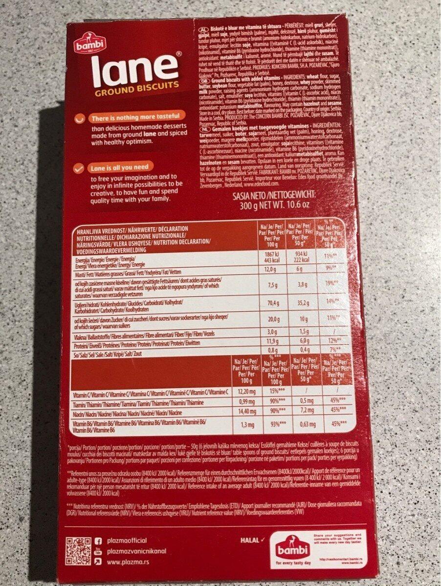 Lane ground biscuits - Informazioni nutrizionali - fr