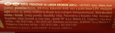 Napolitanke Limun - Ingredients - en
