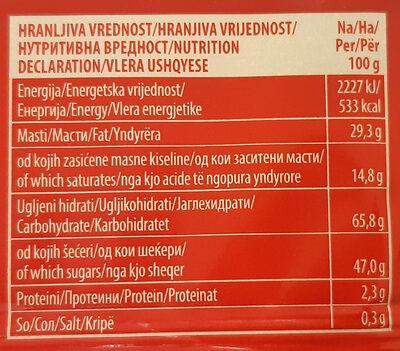 Napolitanke Limun - Nutrition facts - en