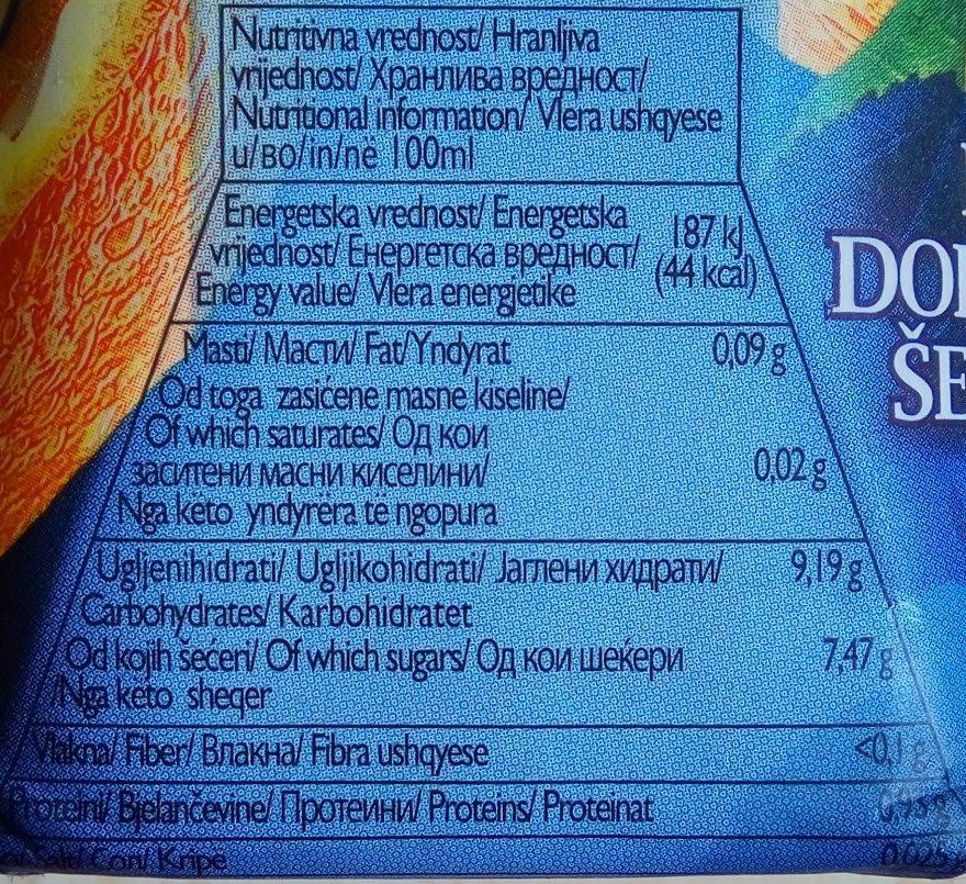 Life premium 100% Orange - Nutrition facts
