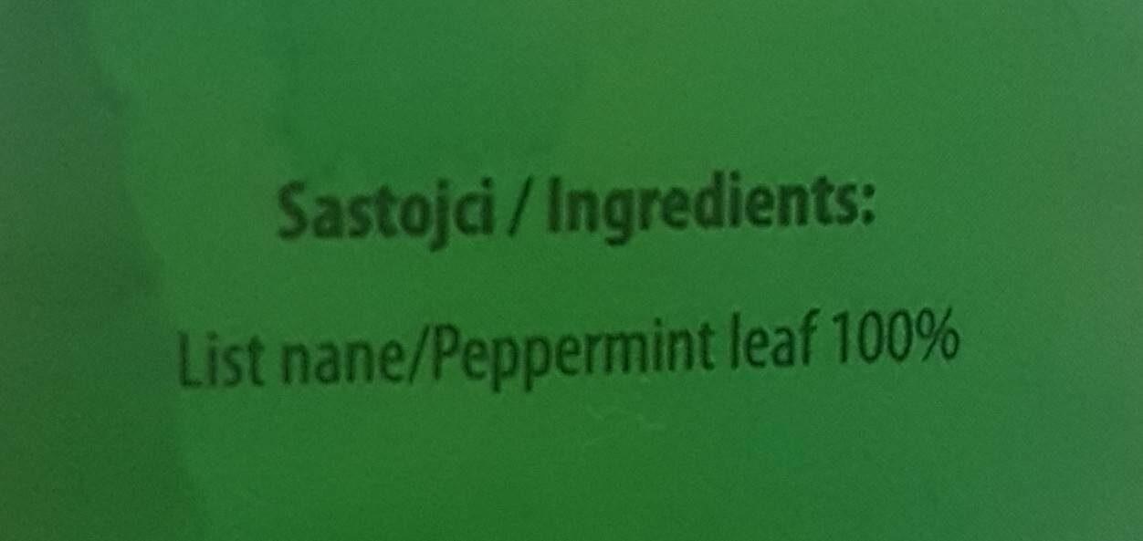 Nana-Menta Peppermint tea - Informations nutritionnelles - fr