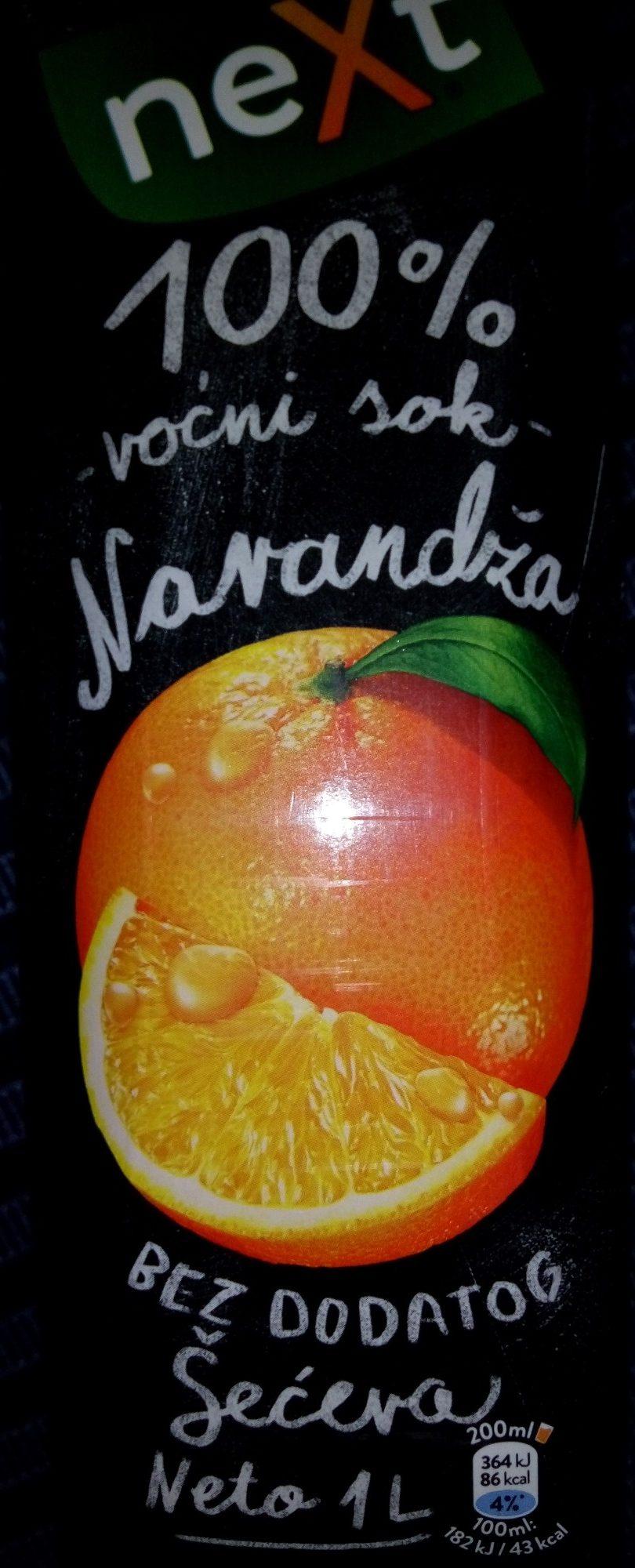 Next 100% Narandža - Производ - sr