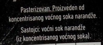 Next 100% Narandža - Sastojci - sr