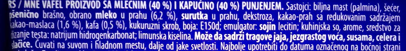 Gaufrette Napolitaine - Ingredients - sr