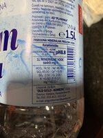 Prolom voda - Nutrition facts - en