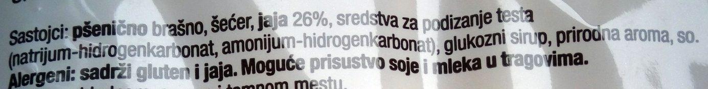 Piškote - Ingredients - sr