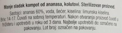 Ananas kolutovi - Ingrédients - sr