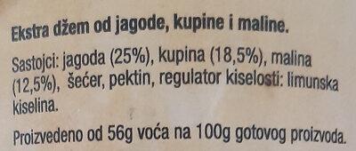 Ekstra džem šumsko voće - Ingrédients - sr
